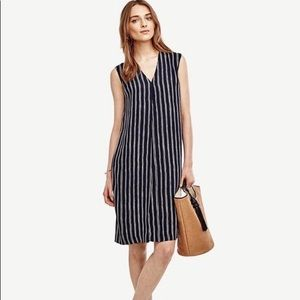 """PRICE DROP"" Ann Taylor Striped Sleeveless Dress"